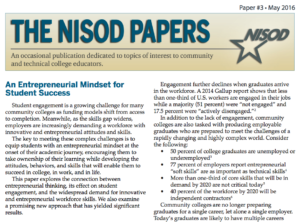 An Entrepreneurial Mindset for Student Success, Issue No. 3