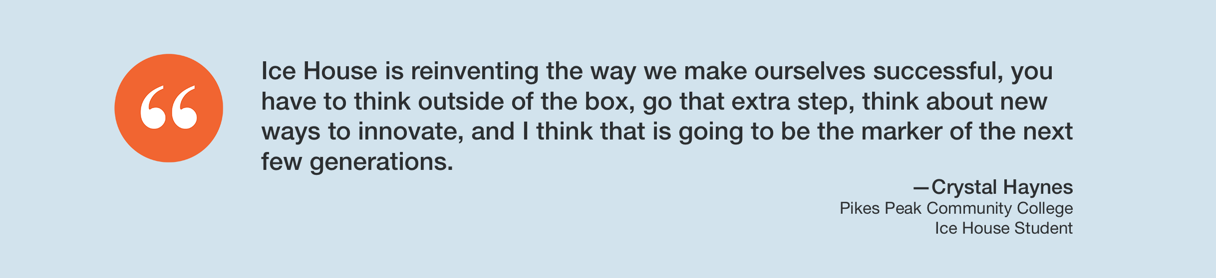 Text box as a testimonial