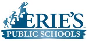 Erie's public schools logo blue